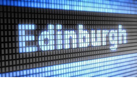 airport sign saying edinburgh