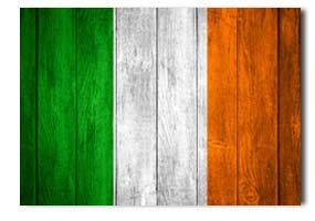 ireland flag in a wooden effect