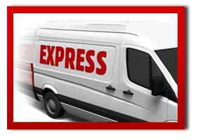 white van with the messsage express