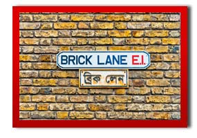 picture of a street sign called brick lane