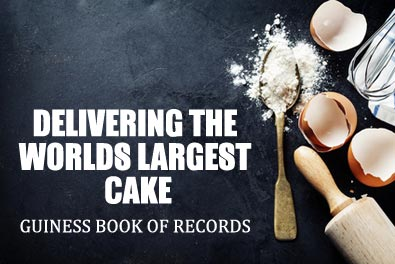 delivery the worlds largest cake in the guiness book of records