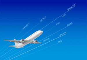 Plane Travelling Internationally